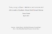 La fiscalité énergétique en France : estimation des effets environnementaux et distributifs d'après un modèle de demande. Thomas Douenne