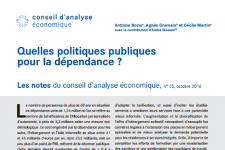 Oct 2016 – Policy brief of the CAE : What public policies for dependence ?