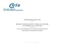 (Rapport CNIS) L'accès des chercheurs aux données administratives : état des lieux et propositions d'actions