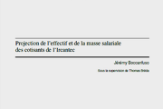 Projection de l'effectif et de la masse salariale des cotisants de l'Ircantec – Jérémy Boccanfuso
