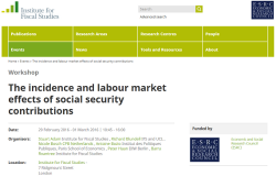 The incidence and labour market effects of social security contributions (workshop)