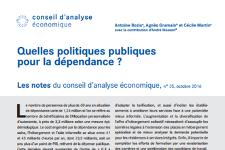 Oct 2016 – Note du CAE : Quelles politiques publiques pour la dépendance ?
